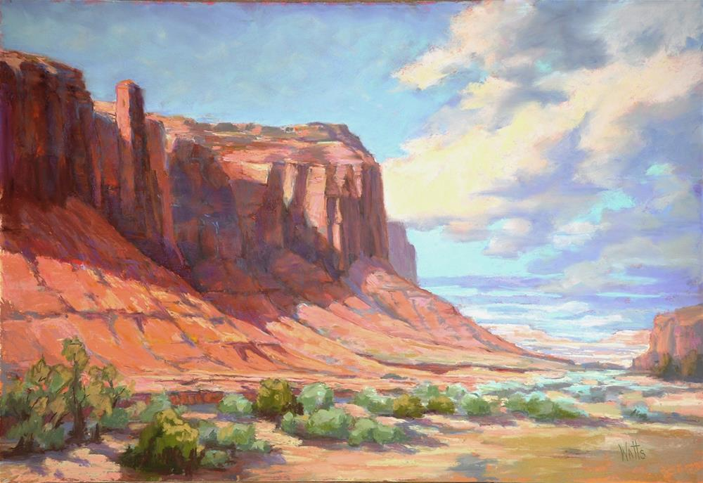 """Navajo Land"" original fine art by Sarah Watts"