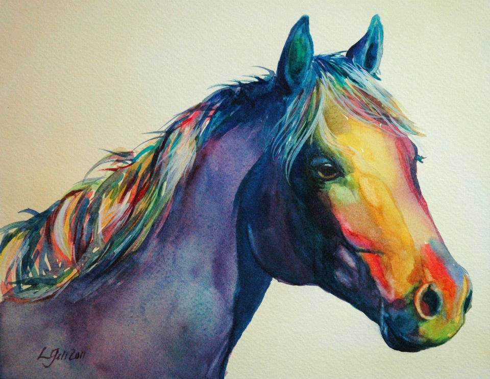 """Paint Pony 17"" original fine art by Lyn Gill"