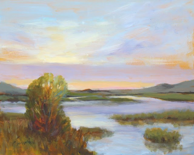 """Evening Marsh"" original fine art by Sue Cervenka"