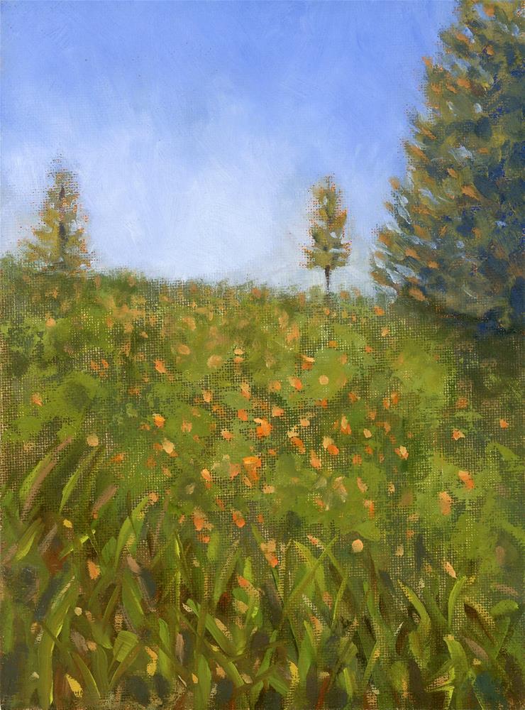 """""""Poppy Study II"""" original fine art by Susanne Billings"""