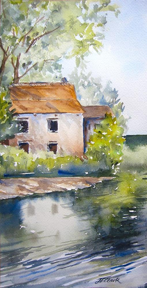 """Edam Canal, the Netherlands"" original fine art by Judith Freeman Clark"