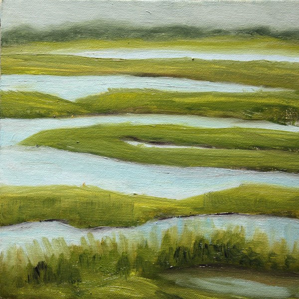 """Salt Water Marsh"" original fine art by Jane Frederick"