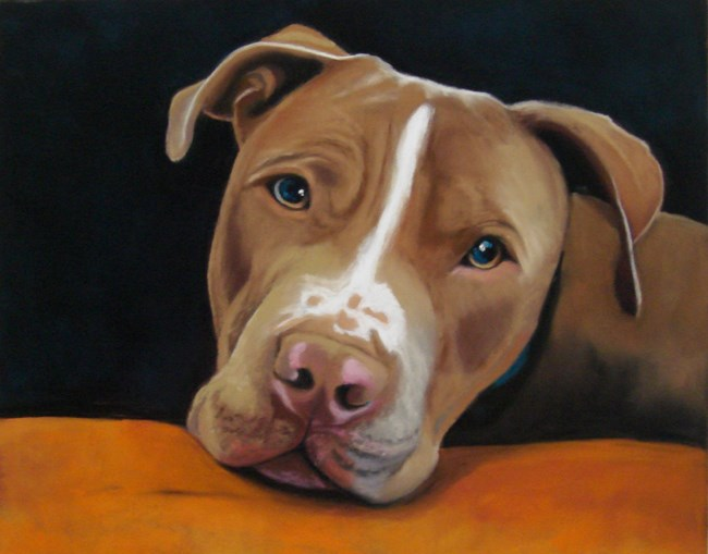 """Digby"" original fine art by Ria Hills"