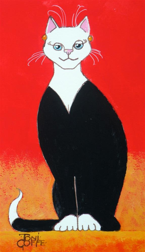 """The Little Black Dress"" original fine art by Toni Goffe"