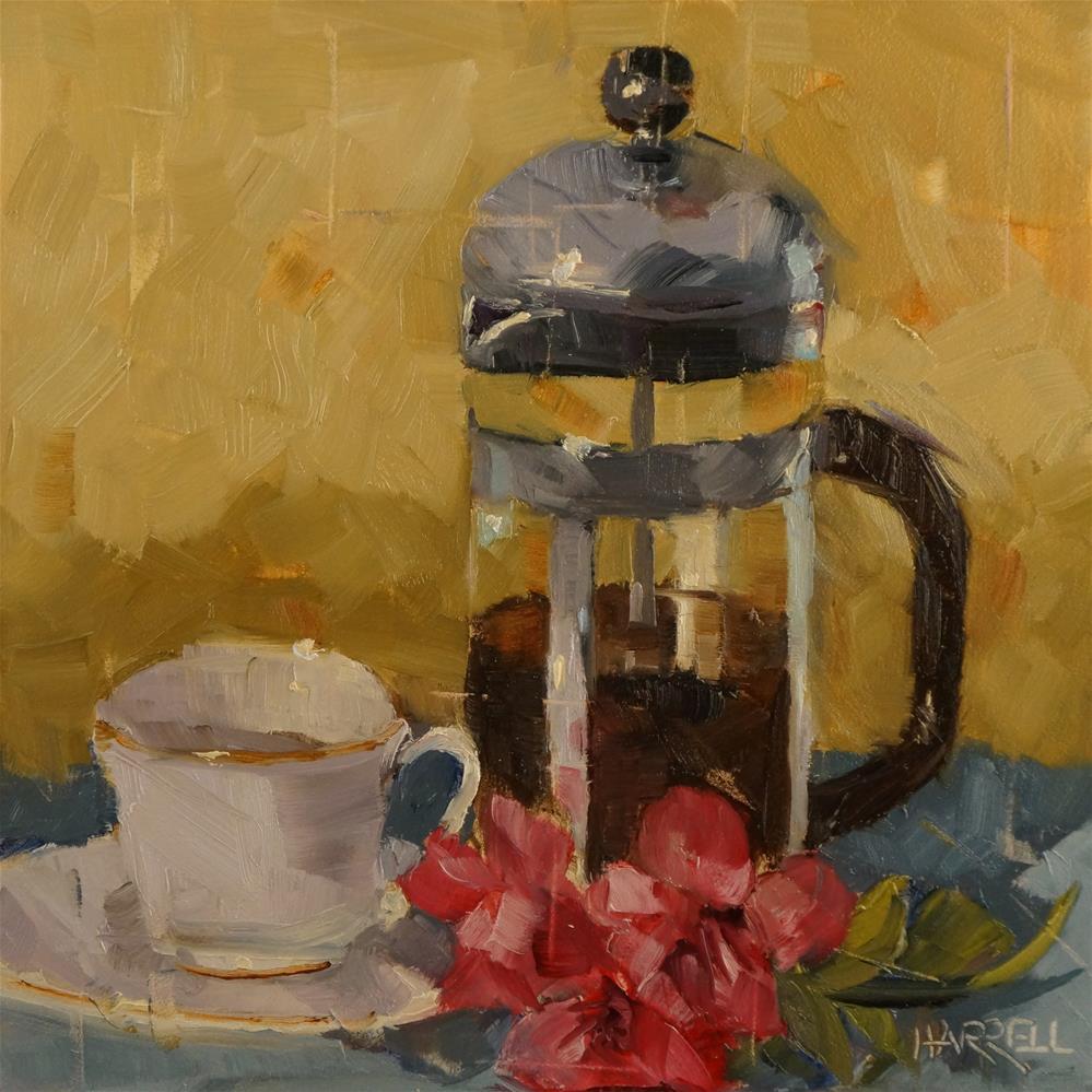 """""""French Press"""" original fine art by Sue Harrell"""