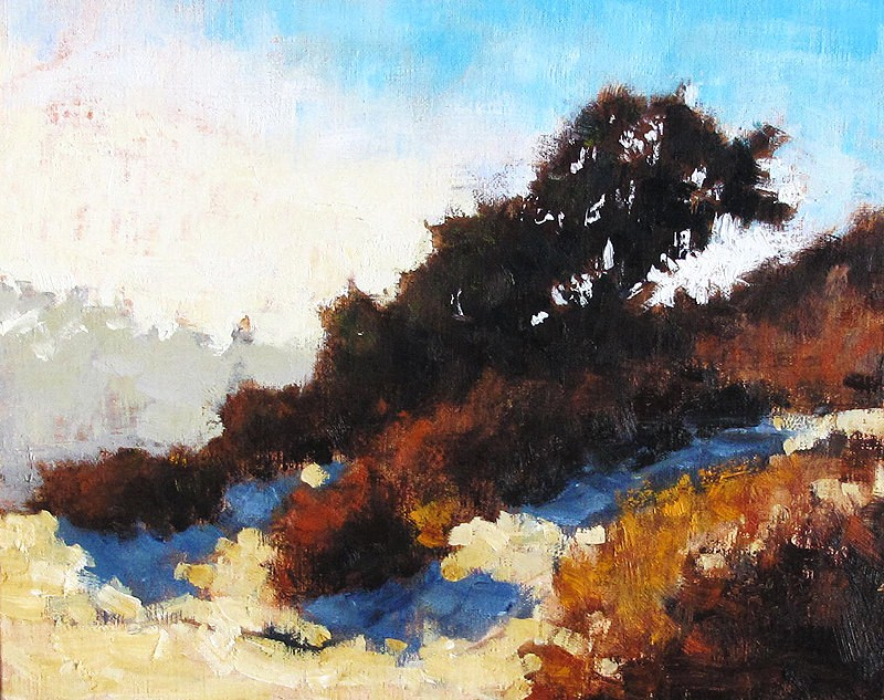 """Autumn Morning, San Diego"" original fine art by Kevin Inman"