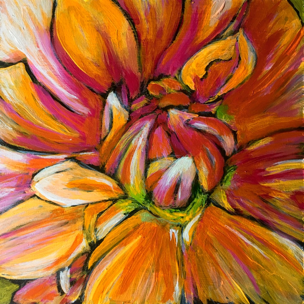 """Dahlia "" original fine art by Colleen OHair"