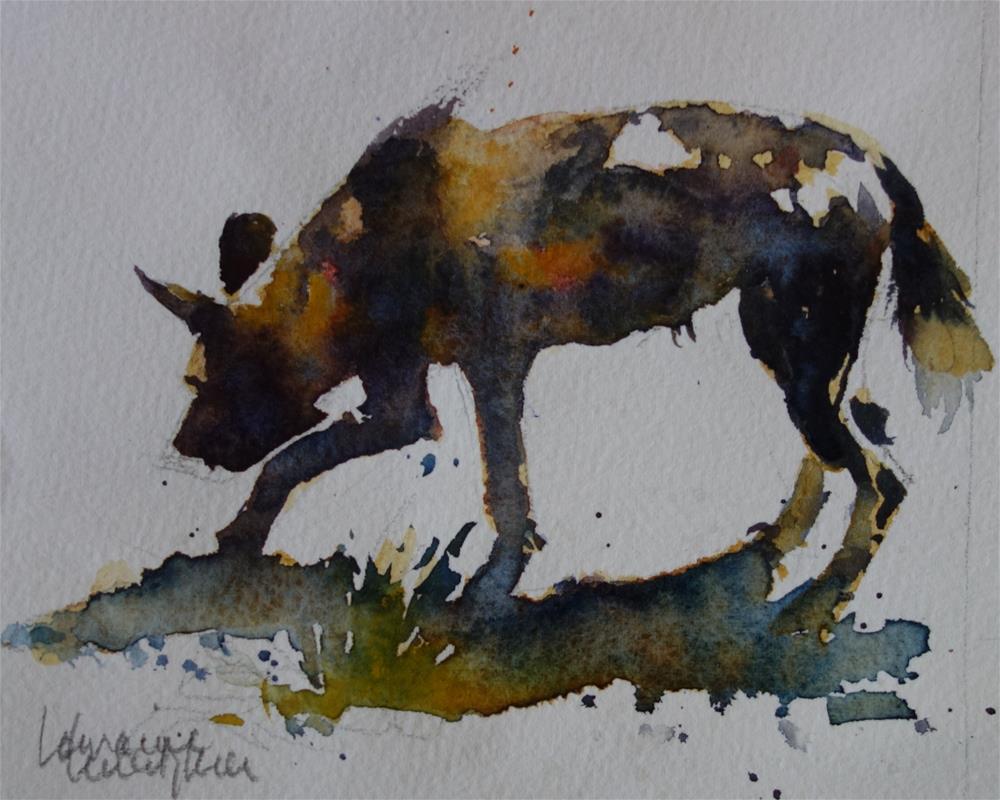 """Sniffing the trail"" original fine art by Lorraine Lewitzka"