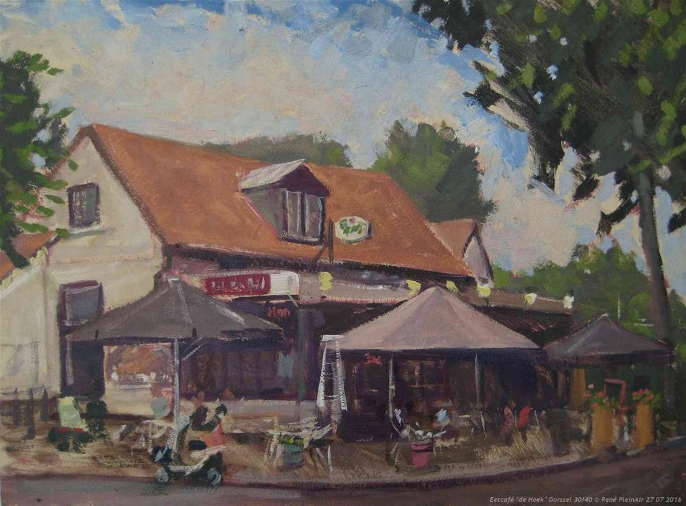 """Eetcafe de Hoek Gorssel, The Netherlands"" original fine art by René PleinAir"