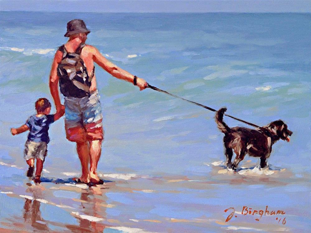 """A Father's Day"" original fine art by Joanna Bingham"