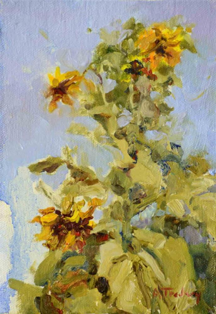 """Giant Sunflowers"" original fine art by alicia tredway"