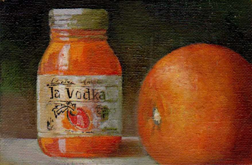 """La Vodka"" original fine art by Leo DeBak"