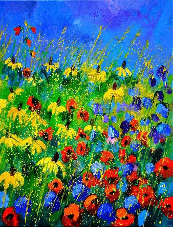 """Poppies 452180"" original fine art by Pol Ledent"