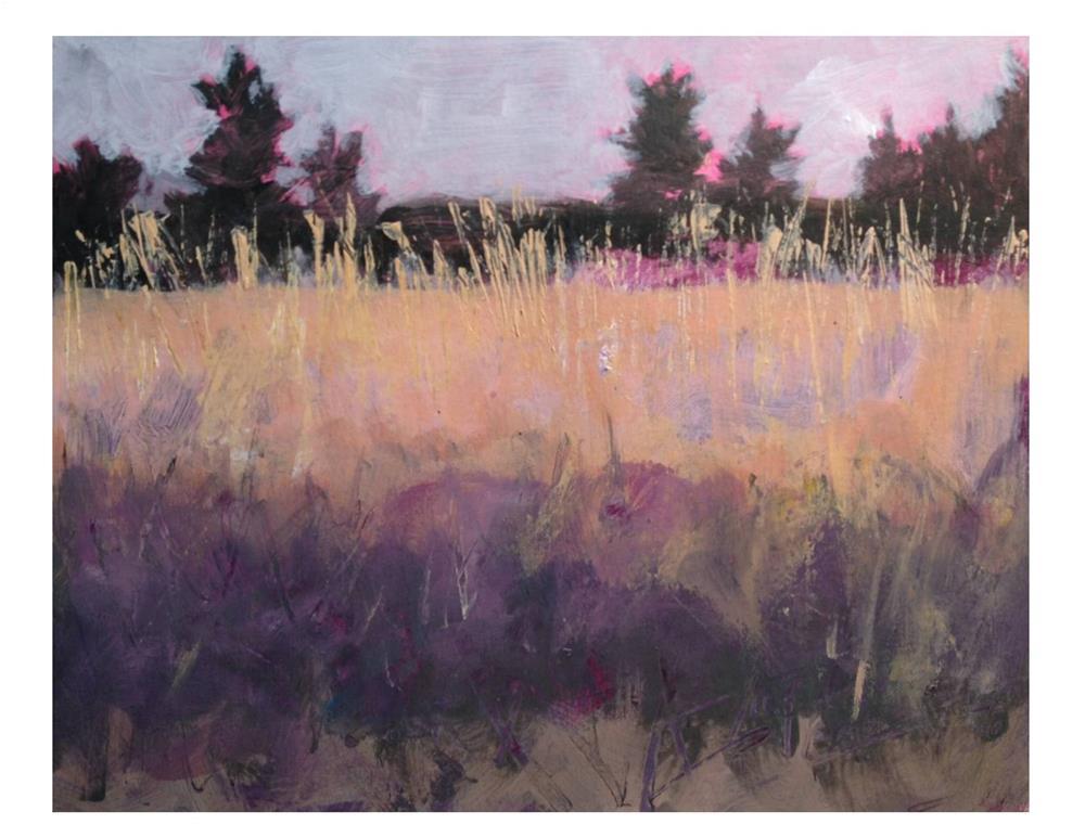 """""""Across The Field II"""" original fine art by Suzanne Woodward"""