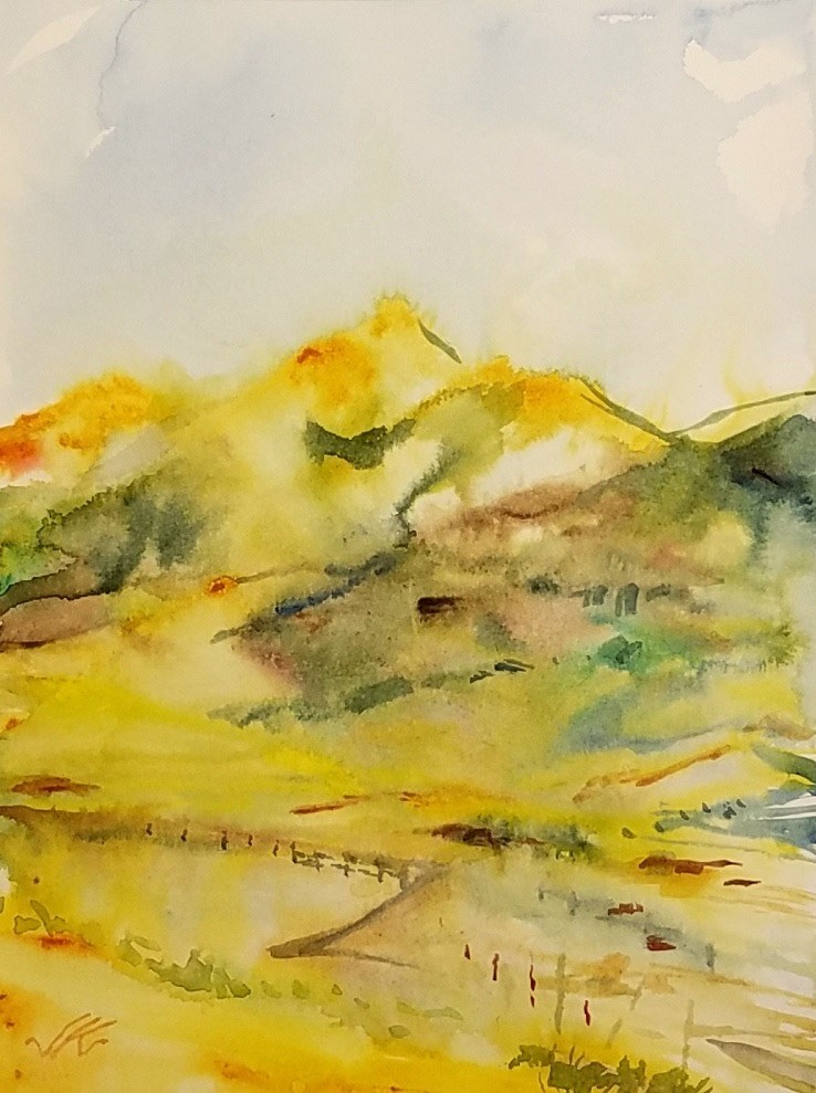 """Horn Peak, Westcliffe, CO"" original fine art by Jean Krueger"
