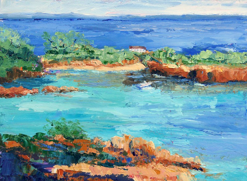 """Perfect Cove"" original fine art by Marion Hedger"