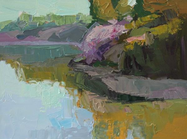 """Zangle Cove Winter Morning - SOLD"" original fine art by Kathryn Townsend"