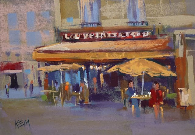 """Painting the People of Paris ...Impressions of France part 2"" original fine art by Karen Margulis"