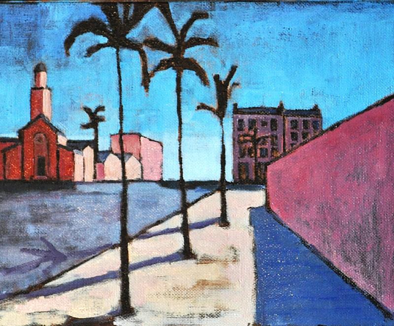 """Urban Landscape, Hillcrest San Diego"" original fine art by Kevin Inman"