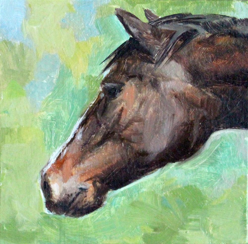 """Horse"" original fine art by Neringa Maxwell"