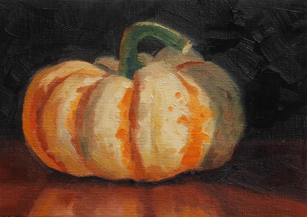 """""""Pumpkin? Squash? Or gourd? It's still yummy."""" original fine art by Susan McManamen"""