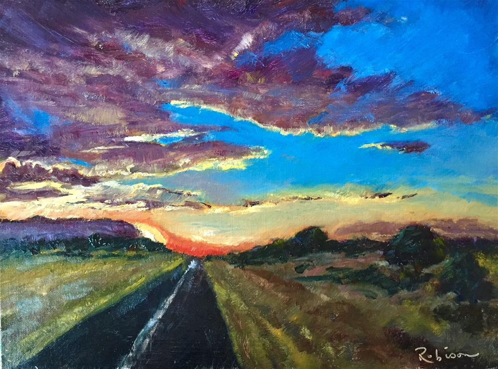 """Highway to Dawn"" original fine art by Renee Robison"