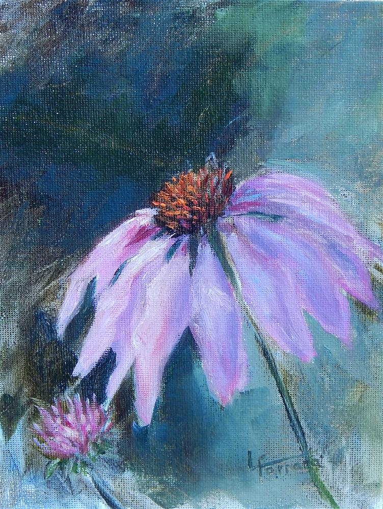 """Pink Echinacea"" original fine art by Lina Ferrara"