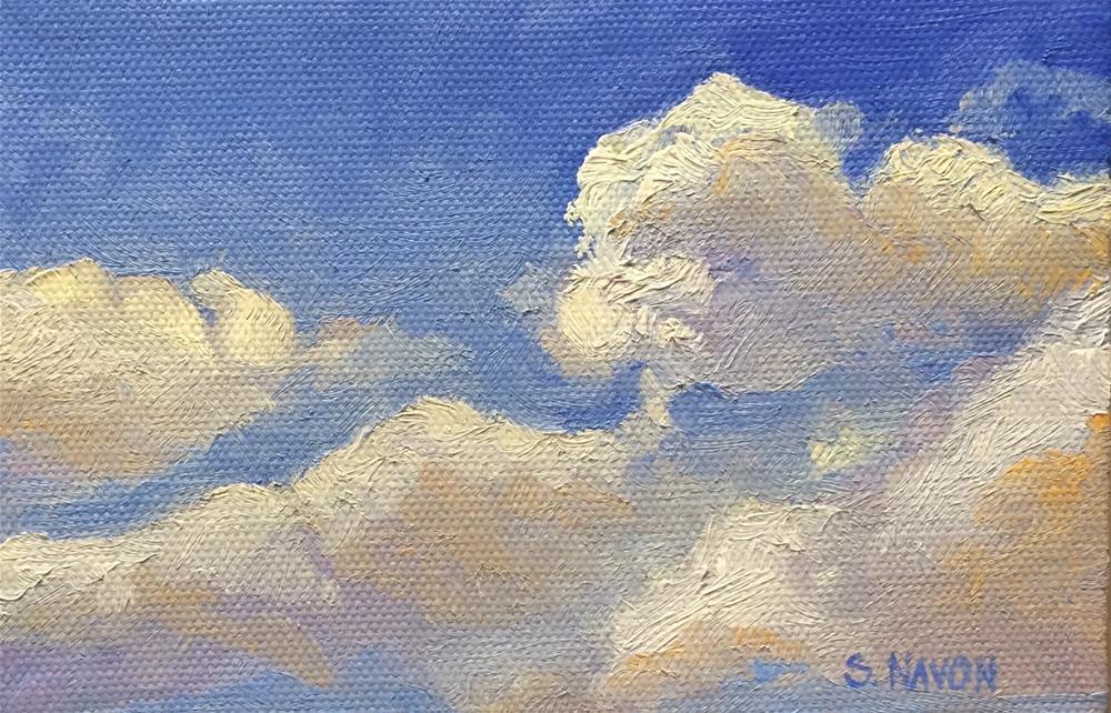 """Cloud Study"" original fine art by Stephanie Navon Jacobson"