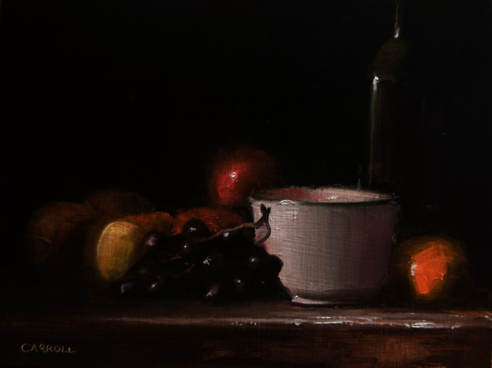 """Pot with Fruit"" original fine art by Neil Carroll"
