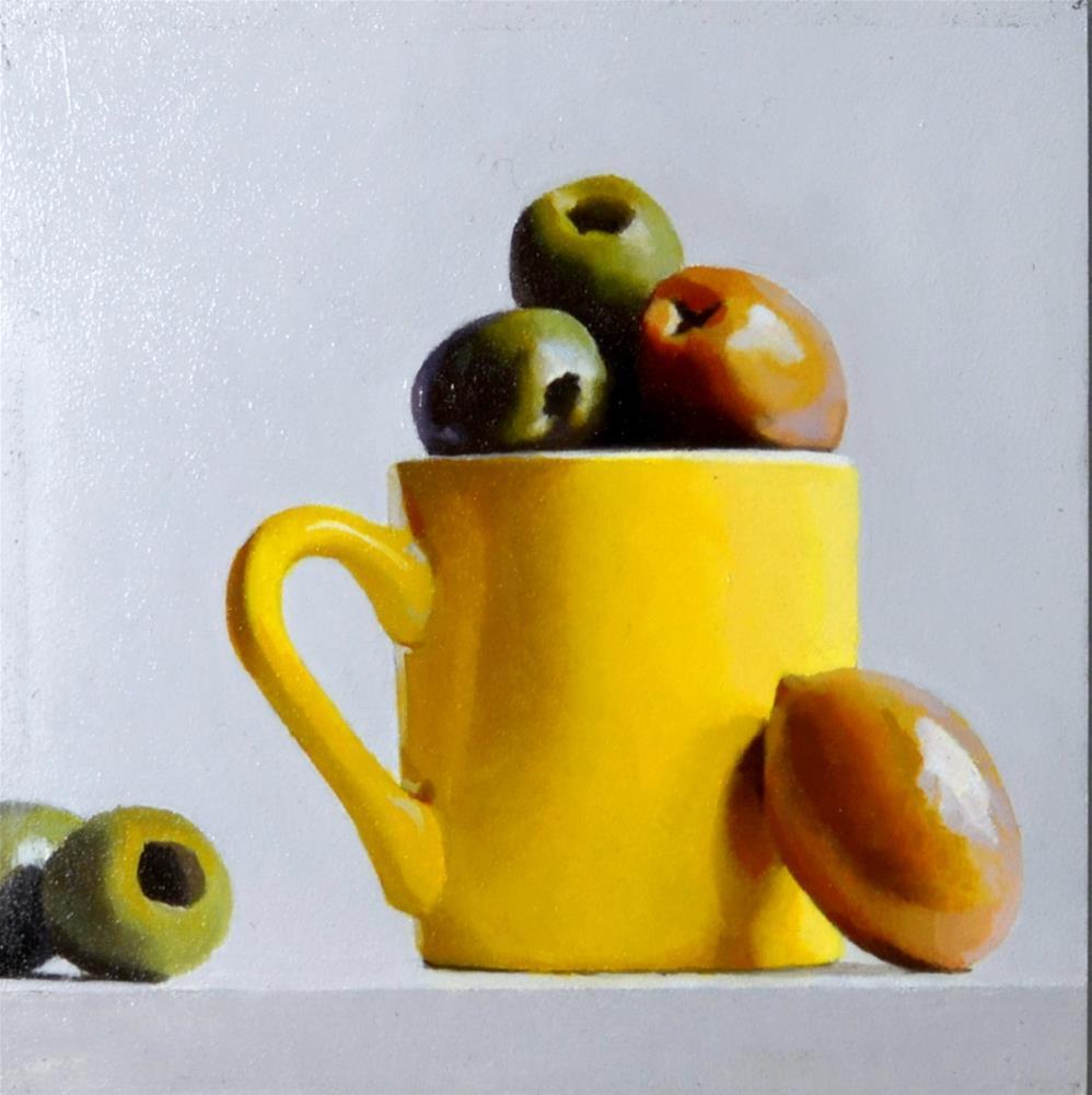 """Yellows and Greens"" original fine art by Brian Burt"