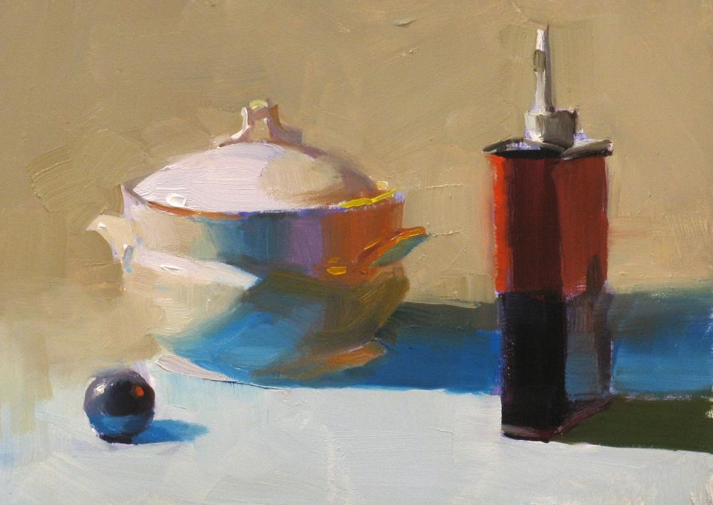 """Blue Reflection"" original fine art by Qiang Huang"