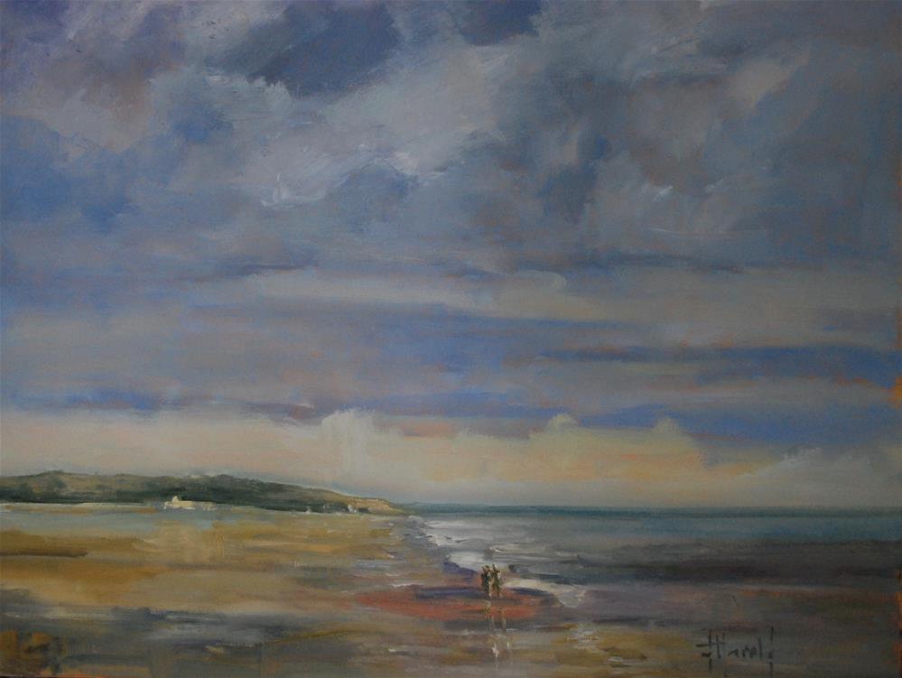 """Beaches #3"" original fine art by Deborah Harold"