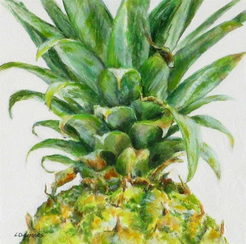 """Pineapple Top"" original fine art by Linda Demers"
