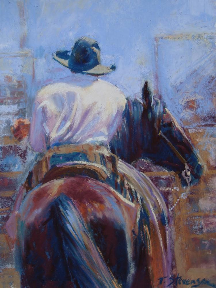 """The Waiting Game"" original fine art by Trish Stevenson"