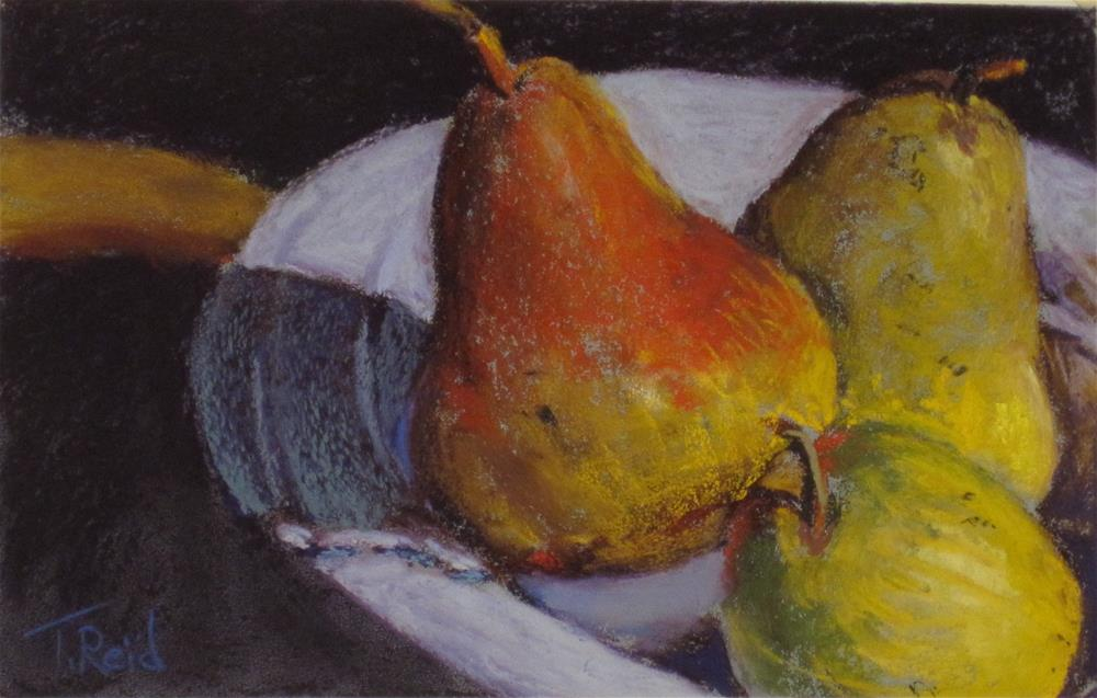 """Three Pears"" original fine art by Toby Reid"