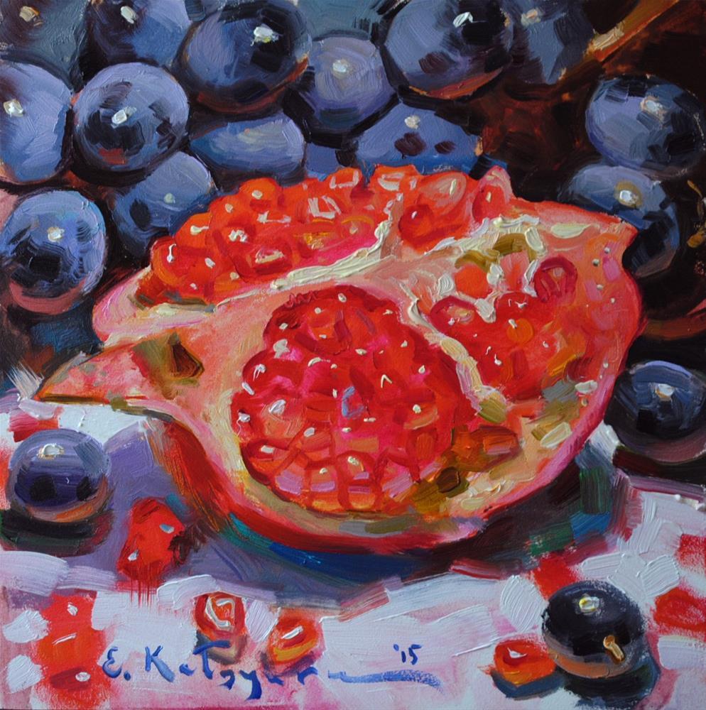 """""""Refreshing Pomegranate"""" original fine art by Elena Katsyura"""