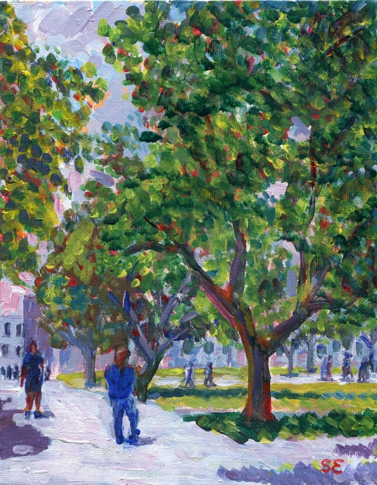 """College Green"" original fine art by Stanley Epperson"
