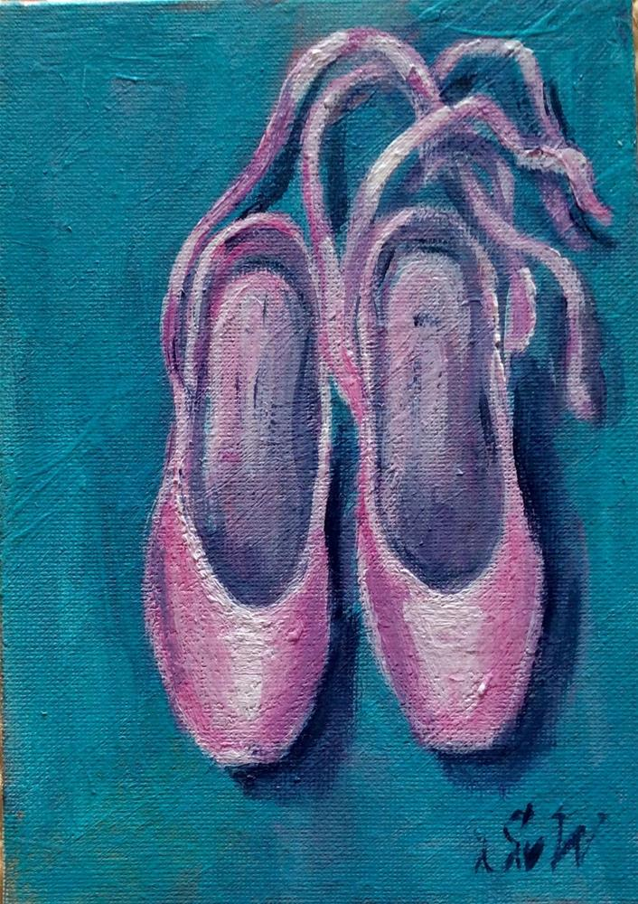 """Ballet slippers"" original fine art by Sonia von Walter"