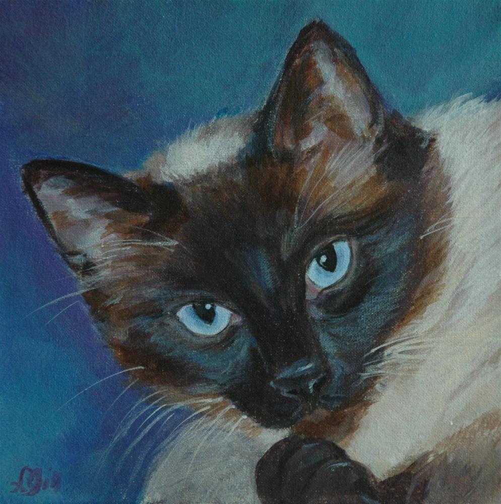 """""""Cocoa"""" original fine art by Lyn Gill"""