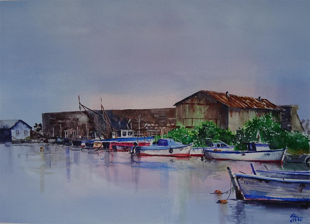 """The Crab Fleet"" original fine art by Martin Stephenson"