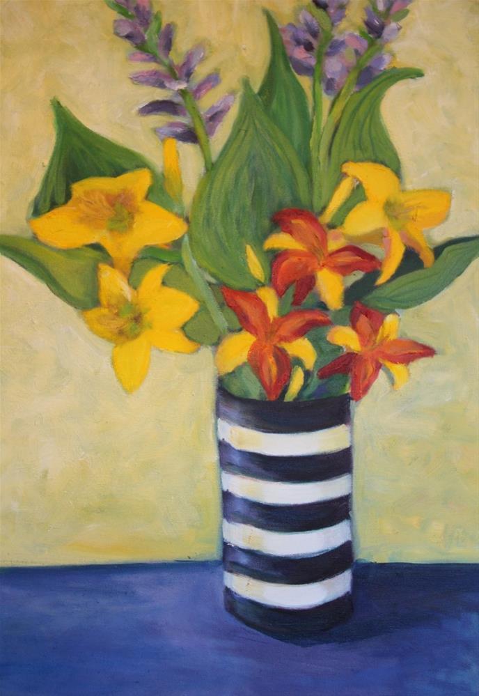 """""""Hostas and Daylilies"""" original fine art by barbara quast"""