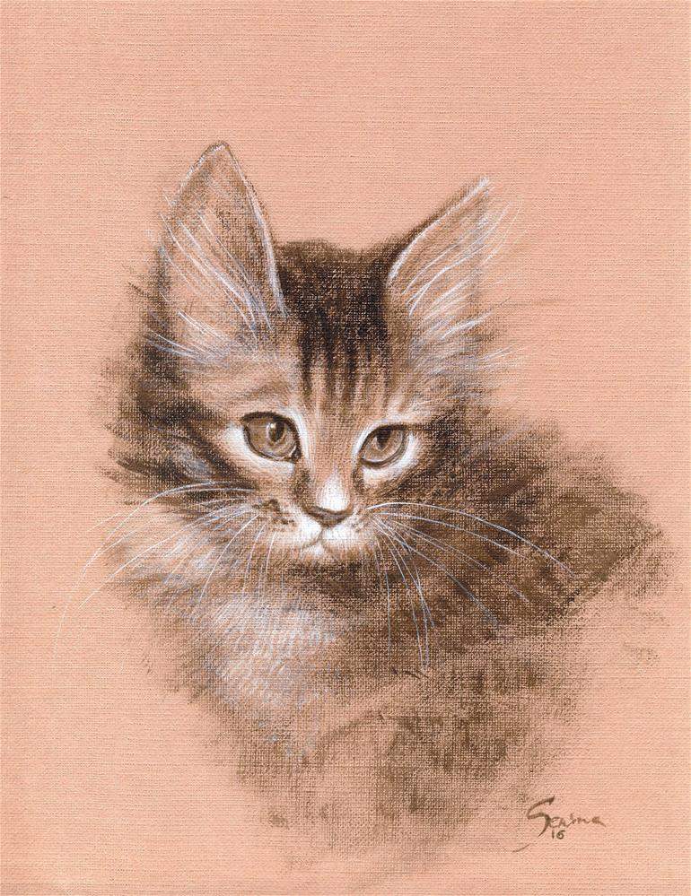 """Kitty"" original fine art by Elena Senina"
