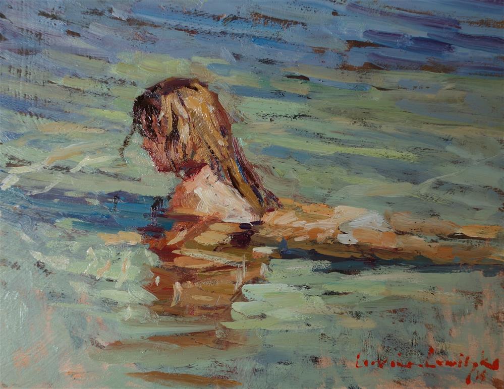 """Warm shallows"" original fine art by Lorraine Lewitzka"
