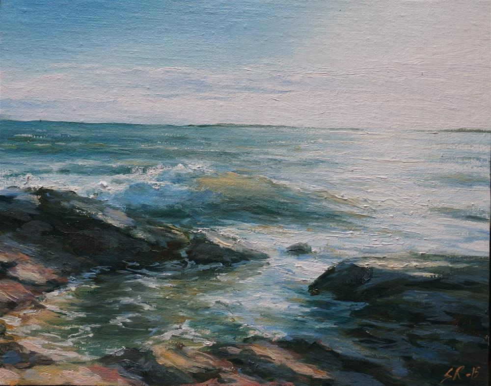 """Afternoon by the sea"" original fine art by Stig Rosenlund"