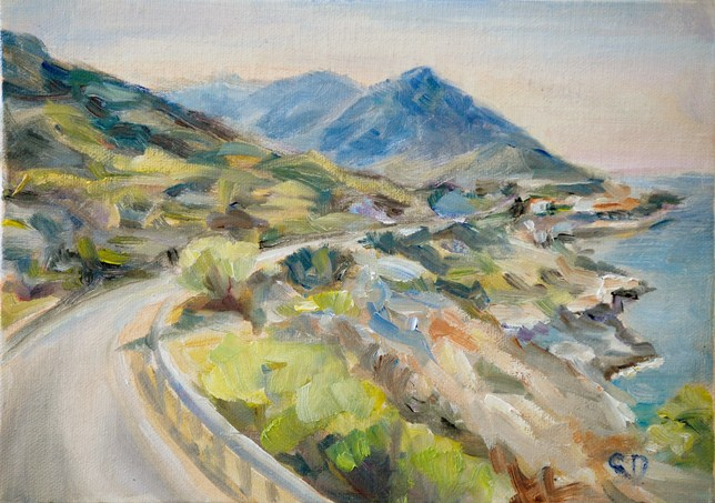 """Beautiful Elba"" original fine art by Carol DeMumbrum"
