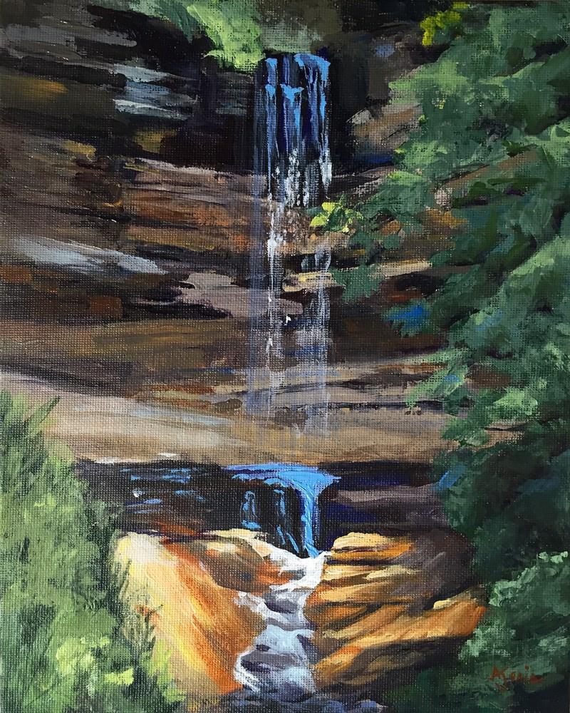 """Munising Falls"" original fine art by Andrea Jeris"