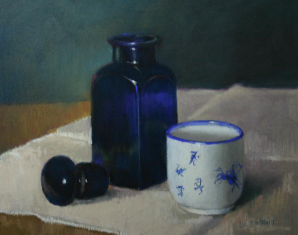 """Sake cup"" original fine art by Liz Balkwill"