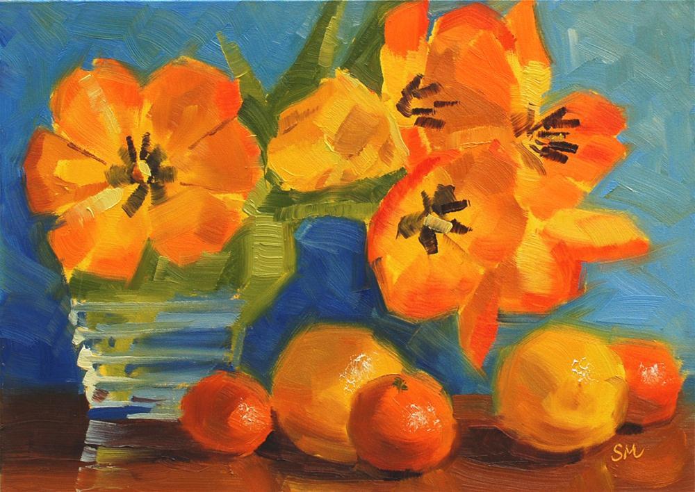 """""""Tulip Explosion"""" original fine art by Susan McManamen"""