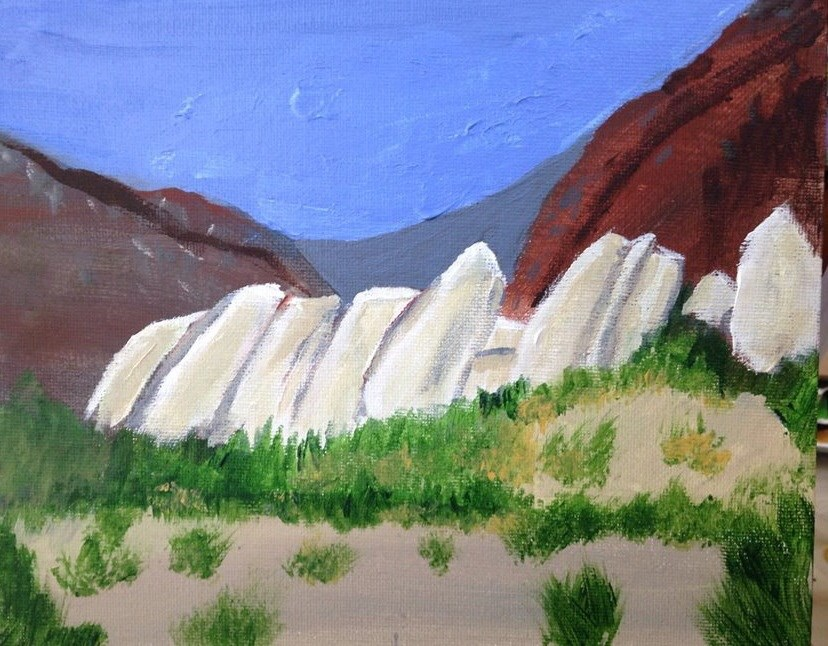 """Mormon Rocks"" original fine art by Brenda Smith"