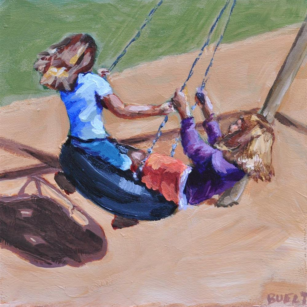 """The Tire Swing"" original fine art by Shari Buelt"